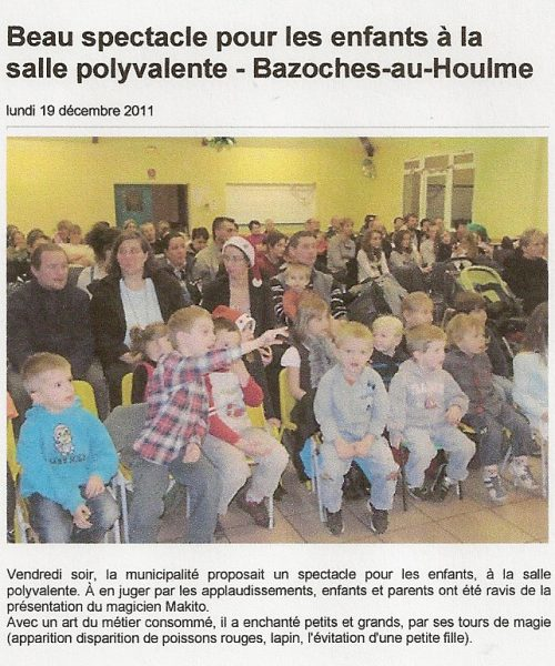 spectacle dee magie orne